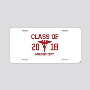 Class Of 2018 Nursing Dept Aluminum License Plate