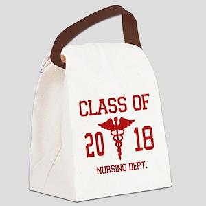 Class Of 2018 Nursing Dept Canvas Lunch Bag
