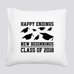 Class Of 2018 Square Canvas Pillow