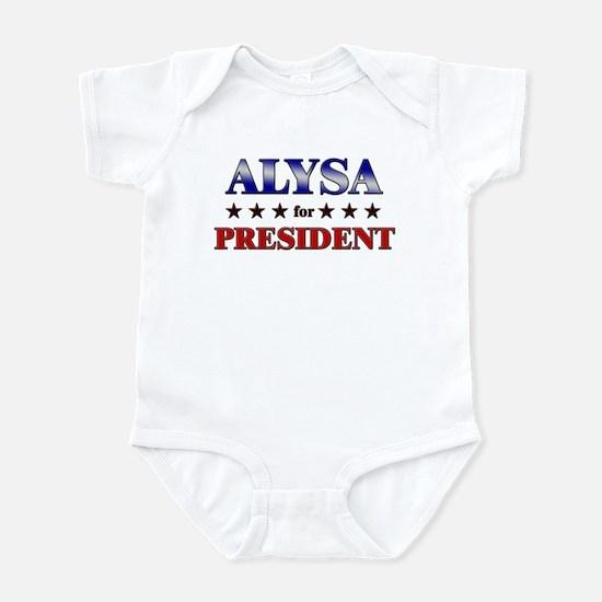 ALYSA for president Infant Bodysuit