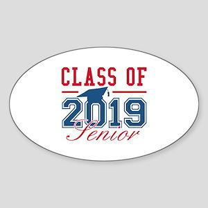 Class Of 2019 Senior Sticker (Oval)