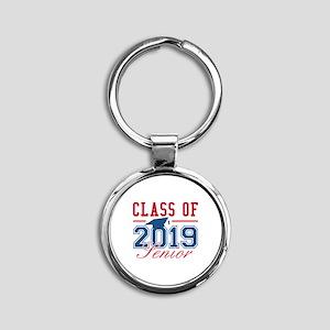 Class Of 2019 Senior Round Keychain