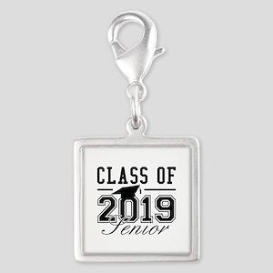 Class Of 2019 Senior Silver Square Charm