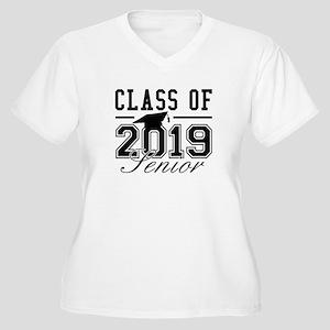 Class Of 2019 Senior Women's Plus Size V-Neck T-Sh