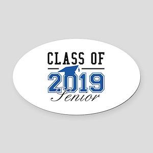 Class Of 2019 Senior Oval Car Magnet