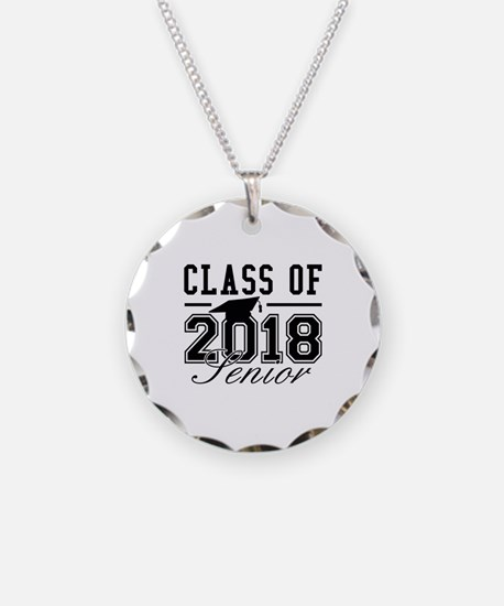 Class Of 2018 Senior Necklace Circle Charm
