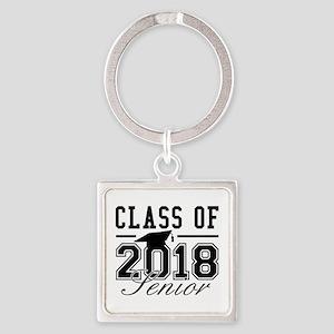 Class Of 2018 Senior Square Keychain