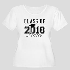 Class Of 2018 Senior Women's Plus Size Scoop Neck