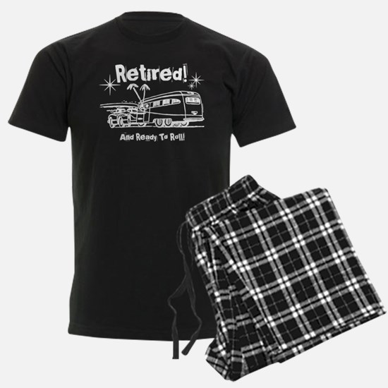 Retro Trailer Retired WHT Pajamas