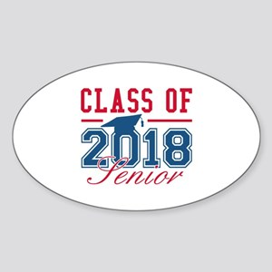 Class Of 2018 Senior Sticker (Oval)