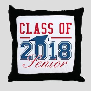 Class Of 2018 Senior Throw Pillow