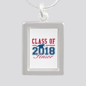 Class Of 2018 Senior Silver Portrait Necklace
