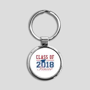 Class Of 2018 Senior Round Keychain