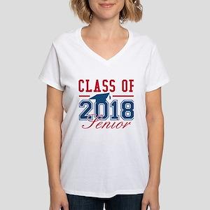 Class Of 2018 Senior Women's V-Neck T-Shirt