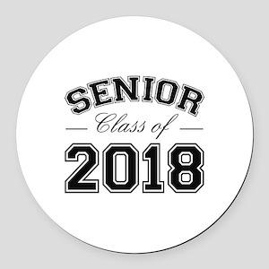 Class Of 2018 Senior Round Car Magnet