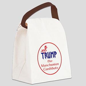 Trump, the Manchurian cadndidate Canvas Lunch Bag