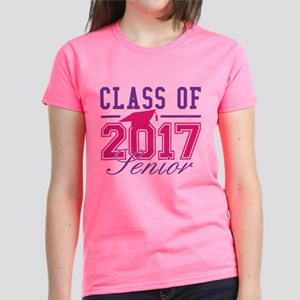 Class Of 2017 Senior Women's Dark T-Shirt