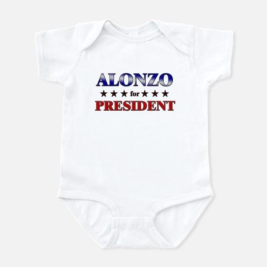 ALONZO for president Infant Bodysuit