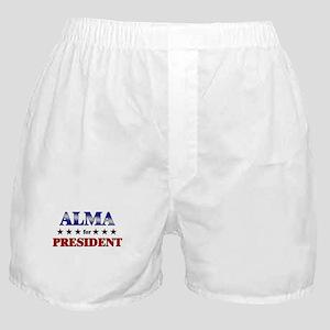 ALMA for president Boxer Shorts