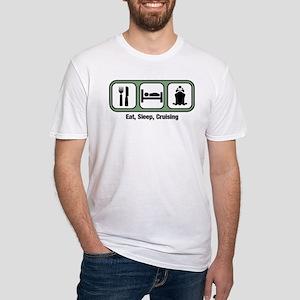 Eat, Sleep, Cruising Fitted T-Shirt