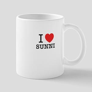 I Love SUNNI Mugs