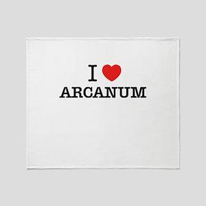 I Love ARCANUM Throw Blanket