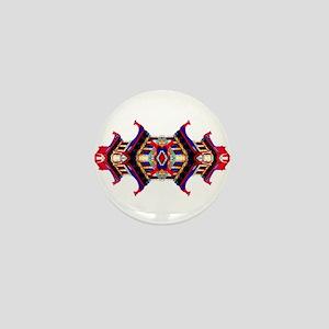 Chinese Pagoda Lantern Mini Button