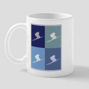 Downhill Skiing (blue boxes) Mug