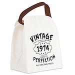 Vintage 1972 Canvas Lunch Bag
