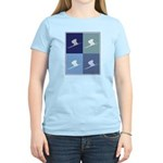 Downhill Skiing (blue boxes) Women's Light T-Shirt