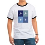 Downhill Skiing (blue boxes) Ringer T
