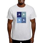 Downhill Skiing (blue boxes) Light T-Shirt