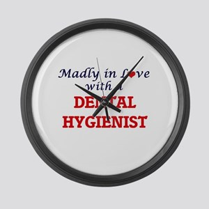 Madly in love with a Dental Hygie Large Wall Clock