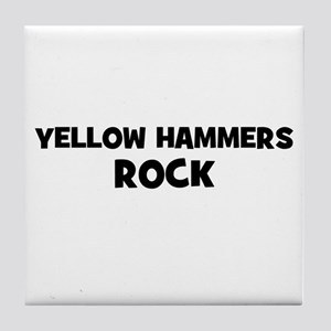 Yellow Hammers Rock Tile Coaster
