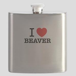 I Love BEAVER Flask
