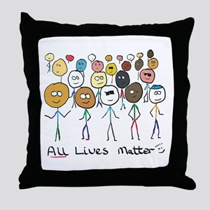 All Lives Matter 2 Throw Pillow