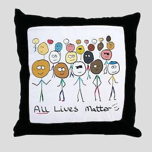 All Lives Matter 2 Throw Pillow
