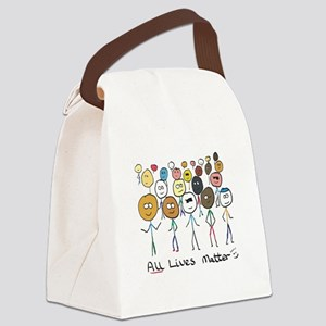 All Lives Matter 2 Canvas Lunch Bag