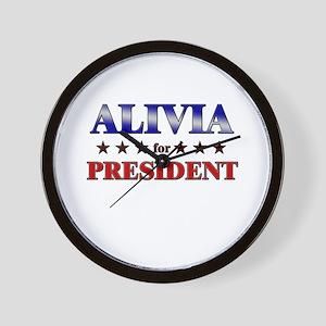 ALIVIA for president Wall Clock