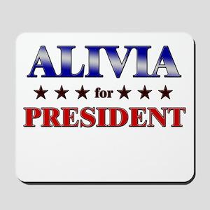 ALIVIA for president Mousepad
