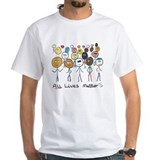 All lives matter Mens Classic White T-Shirts