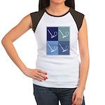 Crouquet (blue boxes) Women's Cap Sleeve T-Shirt