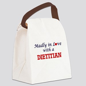 Madly in love with a Dietitian Canvas Lunch Bag