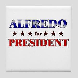 ALFREDO for president Tile Coaster