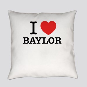 I Love BAYLOR Everyday Pillow