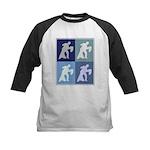 Ballroom Dancing (blue boxes) Kids Baseball Jersey