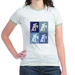 Ballroom Dancing (blue boxes) Jr. Ringer T-Shirt