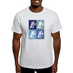 Ballroom Dancing (blue boxes) Light T-Shirt