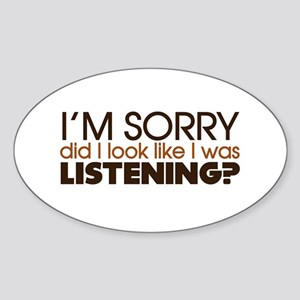 Listening Oval Sticker