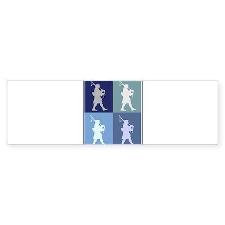Bagpipes (blue boxes) Bumper Sticker